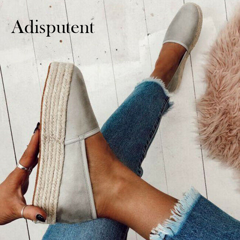 Adisputent Women Flats Shoes Slip On Casual Ladies  Shoes Thick Bottom Lazy Loafers Female Espadrilles Zapatos De Mujer