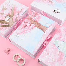 A5 Simple and Freshness Scrapbook Bullet Journal Student Graduation Notebook Gift Set freshness wallet