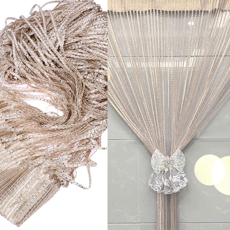 Crystal Beads Curtain Rope Door Curtain Divider Window Panel Room