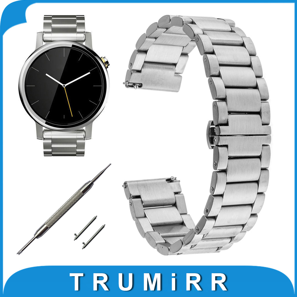 22mm Stainless Steel Watch Band Bracelet for Moto 360 2 Gen 46mm Samsung Gear 2 R381 R382 R380 LG G Watch W100 W10 Urbane W150 cree xml t6 led flashlight zoomable 5 mode waterproof torch tactical light lamp linterna 4000lm for rechargeable18650 battery