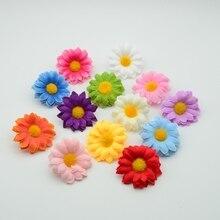 10pcs cheap Artificial daisy flower for home decor accessories new Year christmas wedding diy wreath gifts Silk sunflower stamen