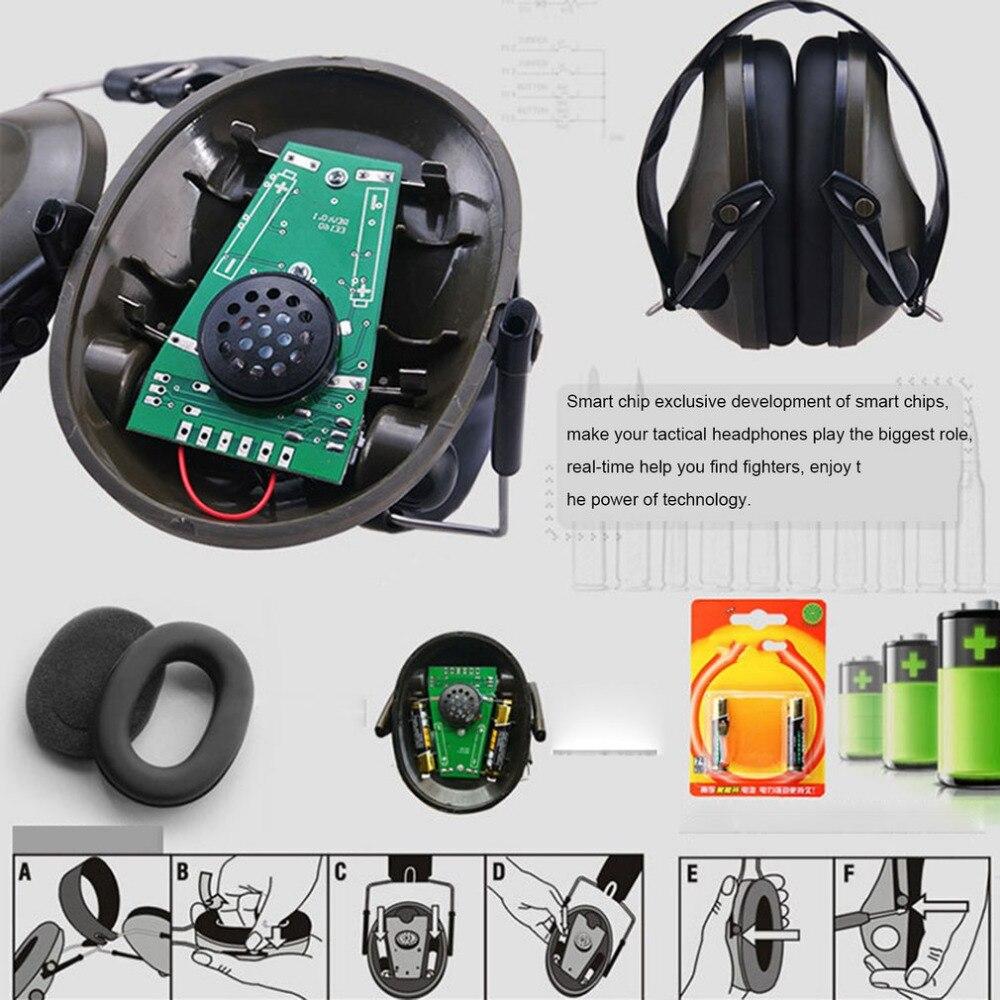 TAC 6 s diseño plegable Anti-ruido Cancelación de ruido Tiro Táctico auricular suave acolchado electrónico orejera para el deporte caza