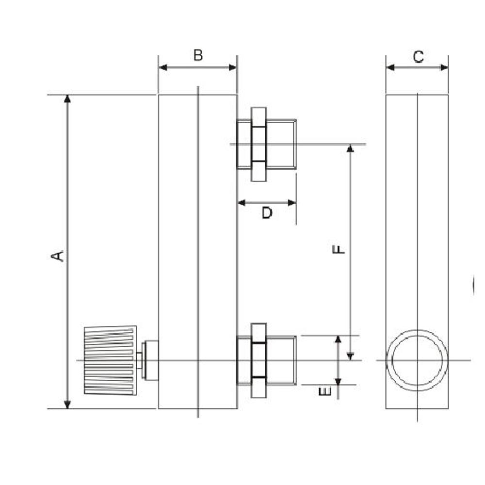 Image 4 - Panel Type Plexiglass  Air Flow Meter For Ozone Generator 1 100L/minAir Purifier Parts   -