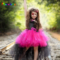 Rock Star Theme Dress for Girls Tutu Dress Cosplay Costume Flower Girl Wedding Tulle Dresses Baby Halloween Carnival Ball Gown
