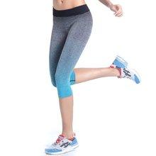 Factory Price! Women Leggings Summer Capri Pants Fitness Clothes Elastic Capris Leggings