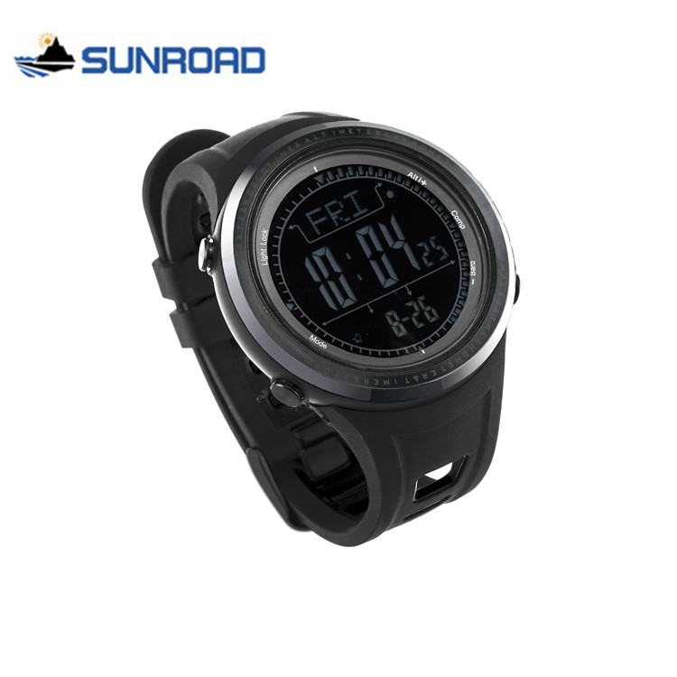 SUNROAD Men Sport Watch Waterproof Altimeter Compass Stopwatch Fishing Barometer Pedometer Digital Wrist Watch Saat Reloj Hombre
