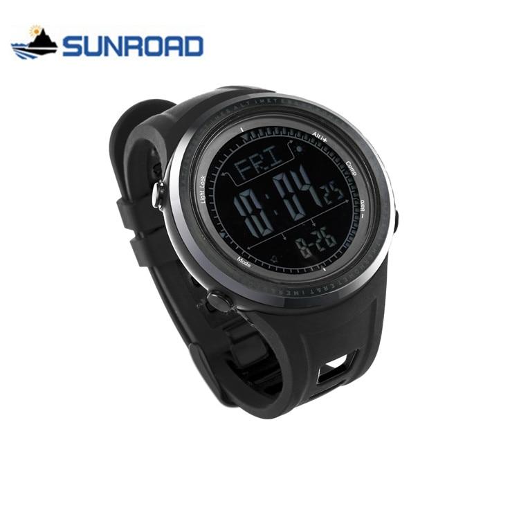 SUNROAD Men Sport Watch Waterproof Altimeter Compass Stopwatch Fishing Barometer Pedometer Digital Wrist Watch Saat Reloj Hombre
