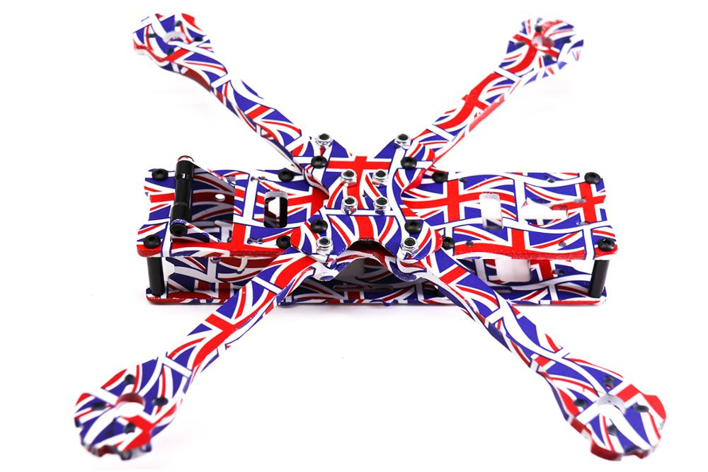 Image 2 - TCMM 5 Inch Drone Frame X220HV The Union Jack Printed Frame Kit Wheelbase 220mm Carbon Fiber For FPV Racing Drone-in Parts & Accessories from Toys & Hobbies