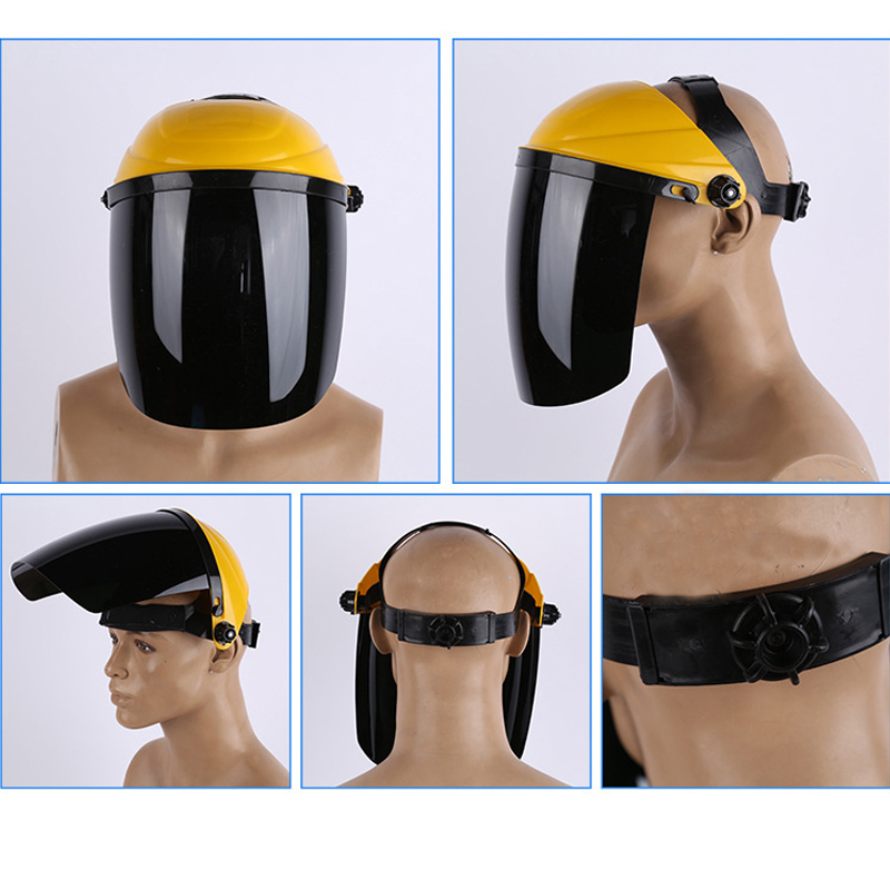 New Work Protective Face Masks Plexiglass & PC Anti-shock Anti-splash Mask For Working Welding Cooking Safety Equipment security labour protective mask equipment bicyle masks against the warm full face mask pirates of the caribbean dust mask fc