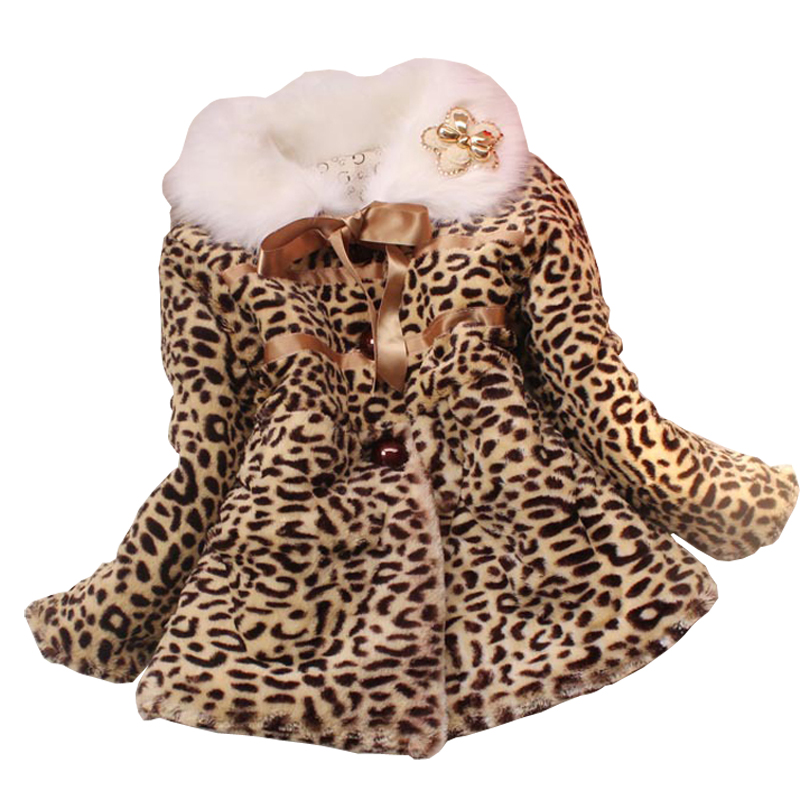 Luxury Girls faux fur coat fox fur collar fish scale pattern jacket baby warm clothes Children