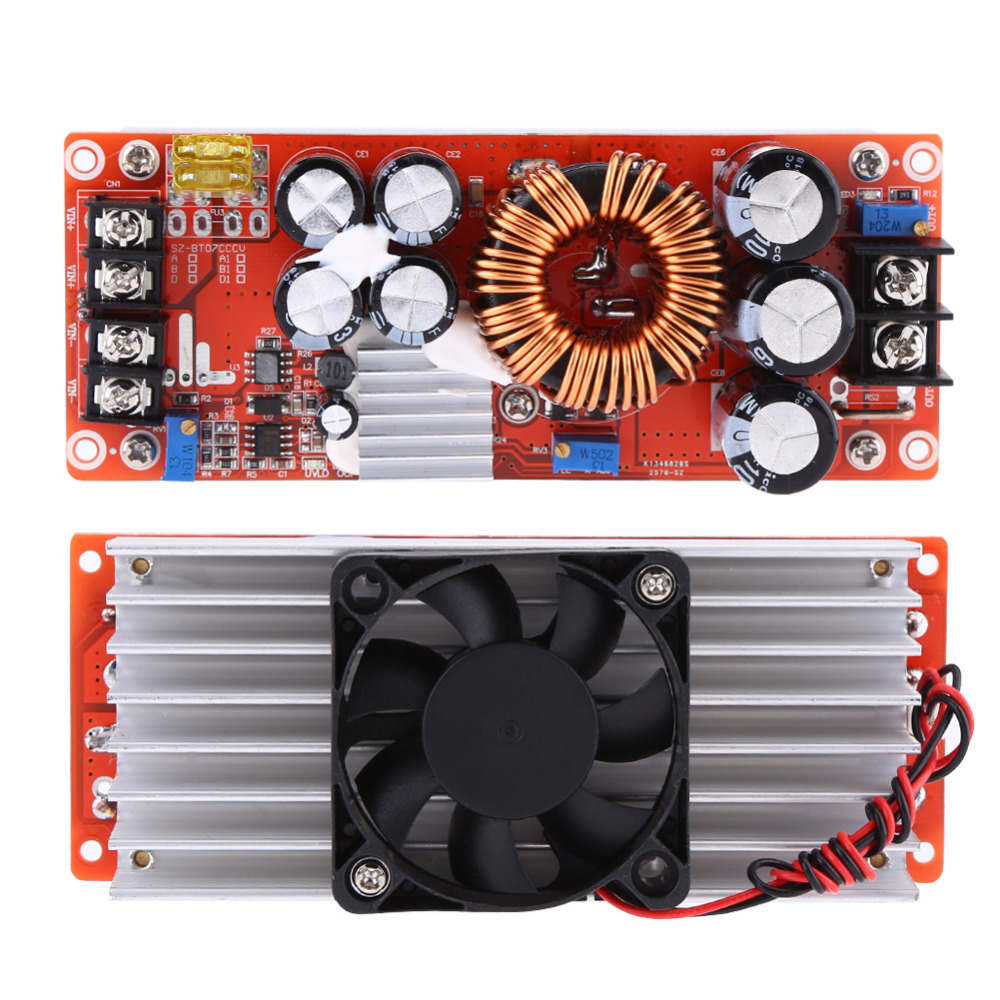 1500W 30A DC-DC Power Converter Boost Module Step-up Constant Power Supply Module 10V-60V to 12V-90V LED Boost Module With Fan