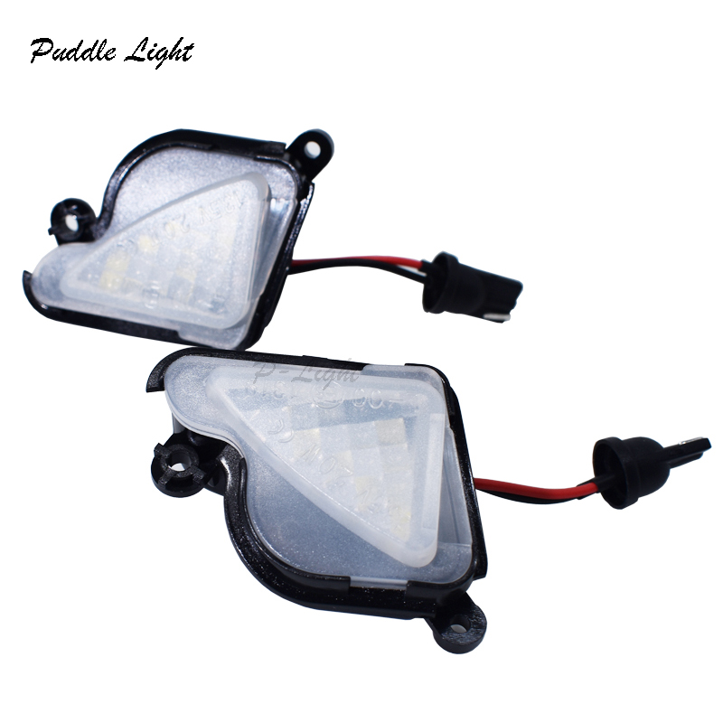 2x 6000K White LED Under Side Mirror Light Puddle Lamp for skoda Octavia Mk3 5E 2012-2017 Superb 2 Octavia 3