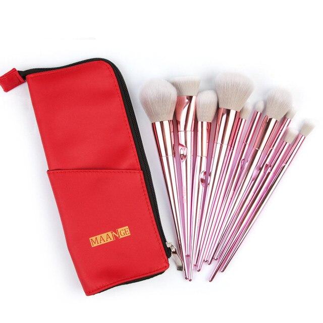 10 Unid maquillaje cepillos en polvo Fundación sombreador de ojos Eyeliner Lip Cosmetic Brush F9.27