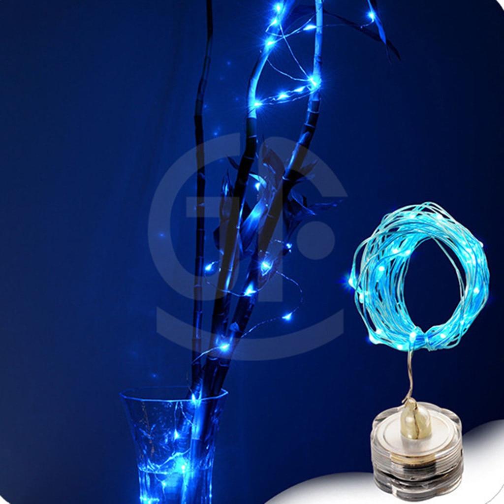 2 M 20 Led Dompelpompen Waterdicht Fairy Licht Koperdraad String Lights Base Lamp Creatieve Decoratieve Tafellamp Bedlampje Beroemd Voor Geselecteerde Materialen, Nieuwe Ontwerpen, Prachtige Kleuren En Prachtige Afwerking