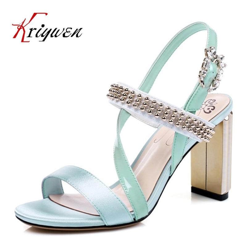 ФОТО 2017 summer genuine leather women party shoes open toe high heels dress shoes wedding metal string beading elegant woman sandals