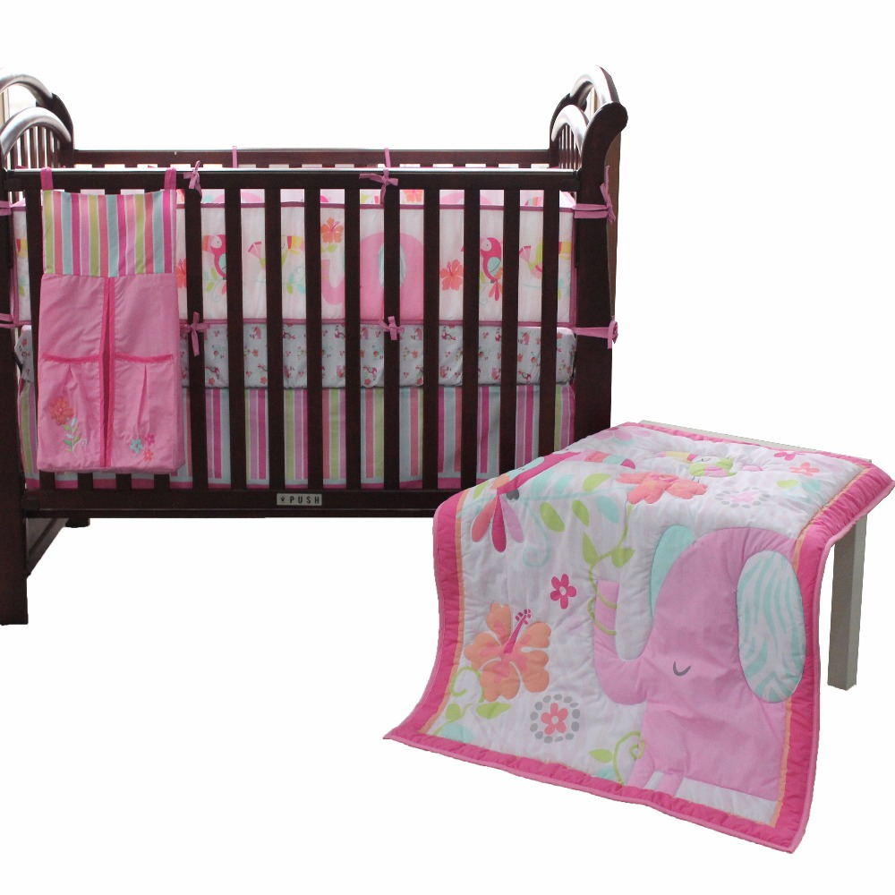 Baby Bedding Set Cotton Soft Breathable Crib Kit Include comforter sheet skirt bumperBaby Bedding Set Cotton Soft Breathable Crib Kit Include comforter sheet skirt bumper