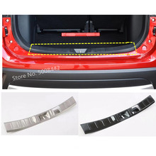 цена на For Mitsubishi Outlander 2016 2017 2018 2019 car inner inside rear bumper trunk trim cover stainless steel plate pedal 1pcs