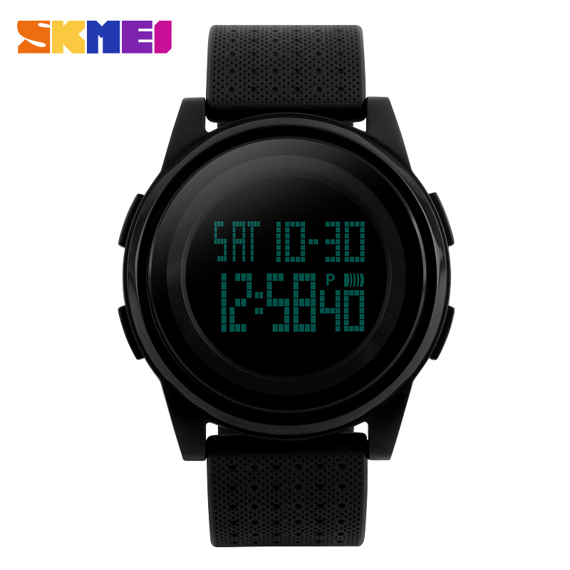 <font><b>SKMEI</b></font> Simple Fashion Watch Men LED Electronic Digital Watch 50m Waterproof Outdoor Sports Watches For Women Men Wrist Watch image