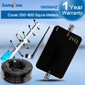 Sanqino 4G LTE Signal Booster 1800MHz Amplificatore Antenna 65dB Mini Size 4G Cell Phone Signal Booster 1800 Full Kit 2016 F12