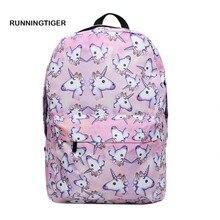 Для женщин рюкзак Единорог Рюкзак пространство Высокое качество путешествия softback школьные рюкзаки для девочек-подростков Mochila Feminina