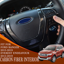 Interior decoration car accessories ABS plastic carbon fiber decorate interior for ford everest 2015-2018