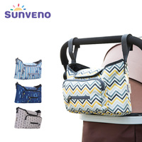SUNVENO Baby Strollers Bag Organizer Waterproof Diaper Nappy Bag Stroller Accessories
