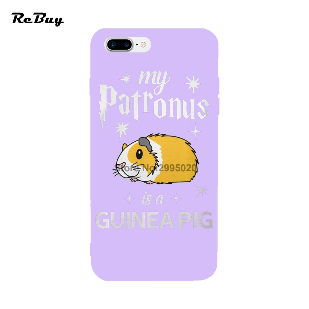 low priced 0a50b d0e13 US $9.0 |My Patronus Is A Guinea Pig For IPhone Cases 8 8Plus X Soft TPU  For Iphone 7/7plus Case Glaze Covers For Iphone 6/6s/6plus-in Fitted Cases  ...