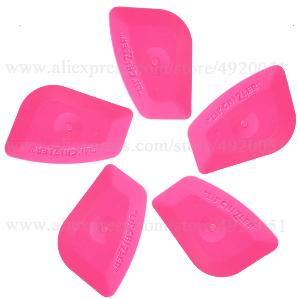 Interior Accessories 2019 New Style 5pcs Carbon Fiber Auto Squeegee Pink Scraper Vinyl Car Wrap Blade Window Tint Wiper Paper Pasting Auto Glass Cleaning Tools 5a25 Drip-Dry