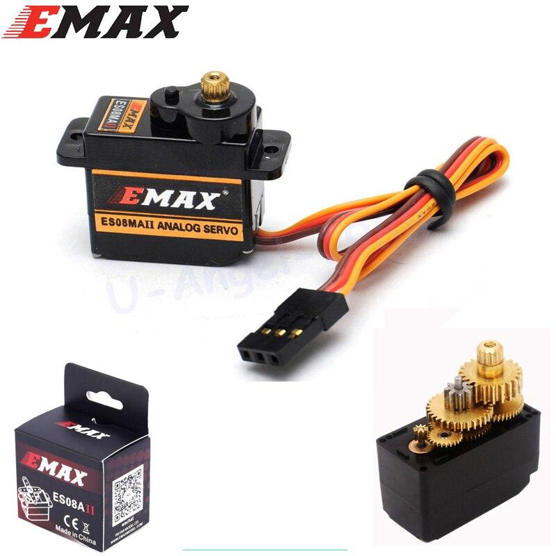 1 unids original Emax ES08MAII 12g/1.8 kg mini Metal Gear de alta velocidad 9g actualización SERVO ES08MA