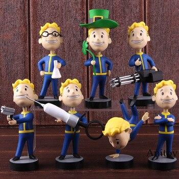 Волт-бой Fallout фигурку качающейся головой ПВХ Коллекция Модель игрушки 7 видов стилей подарок для детей