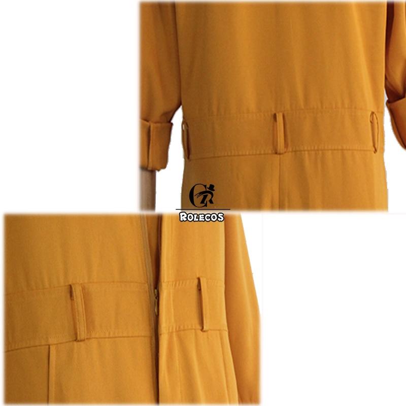 ROLECOS Anime Fire Force Cosplay Costume Shinra Kusakabe Jumpsuit Maki Oze Yellow Uniform Enen no Shouboutai Women Men Cosplay