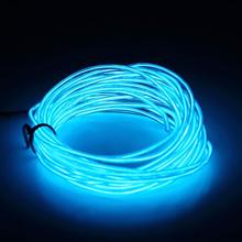 3M Flexible EL Wire Tube Rope Battery Powered Flexible Neon Light Car Party Wedding Decor With Controller LED Light DropShipping(China)