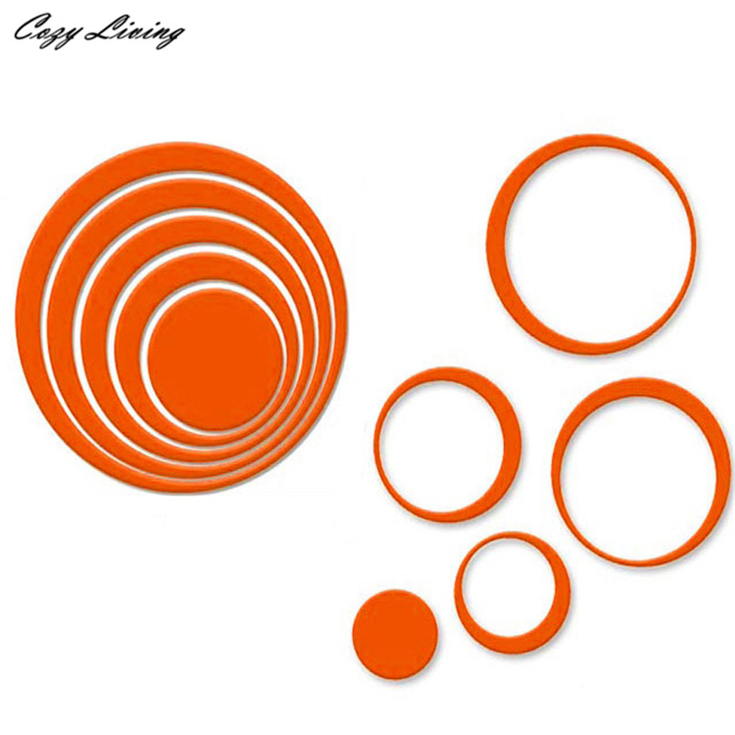 5PCS 3D Removable Indoors Decoration Circles Creative Stereo Wall Stickers-Free Shipping 3D Wall Stickers