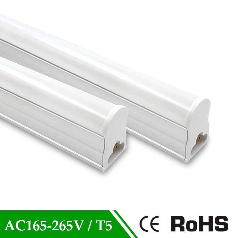 LED Tubes T5 Tube 10w LED Fluorescent Tube Wall Lamps Warm Cold White 165-265V T5 Bulb Light PVC Plastic led bulbs tube t5 600mm 2pcs set t5 led light tube ac85 265v 2 5w wall lamps 1ft led t5 tube fluorescent lamp lights connect cord power switch cable
