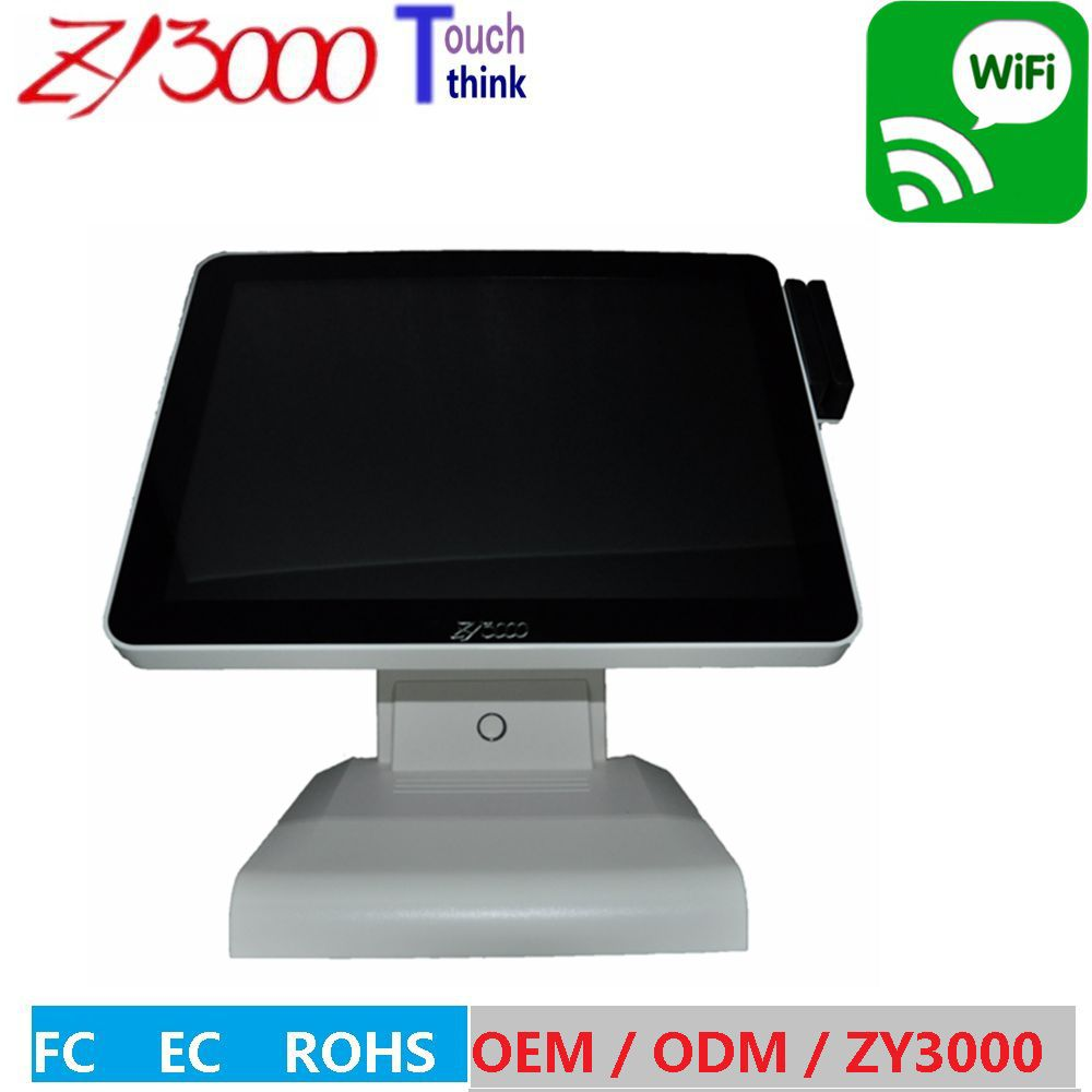 15 Inch Factory Price J1900 8G Ram 128G SSD Capacitive Touch Screen POS System  Touchscreen POS Terminal With MSR Card Reader
