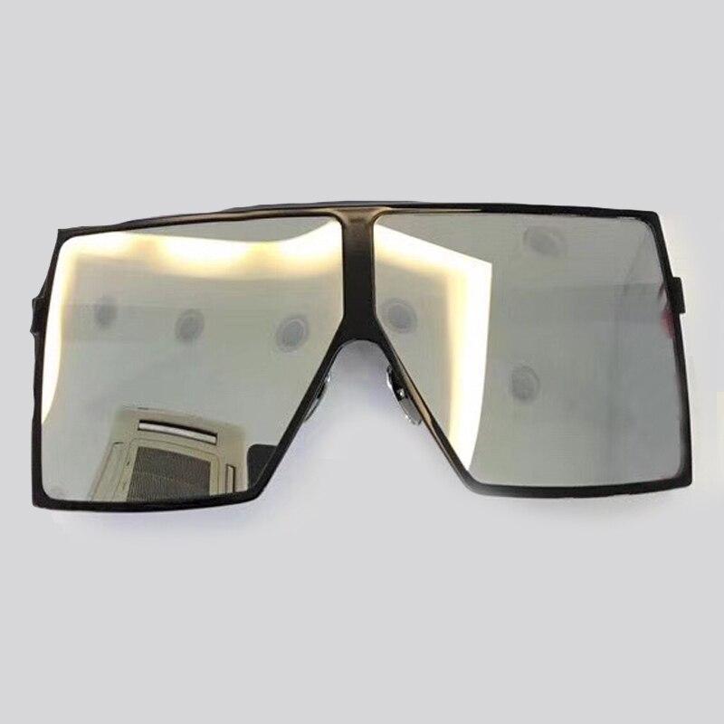 Steampunk carré lunettes De soleil femmes grand cadre avec dégradé UV400 lentille 2018 mode accessoires lunettes Oculos De Sol lunettes De soleil