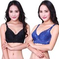 New mulheres Sexy Lace Underwire Push Up Bra 36 38 40 42 de tamanho C Hot 7 cores 16PY L4