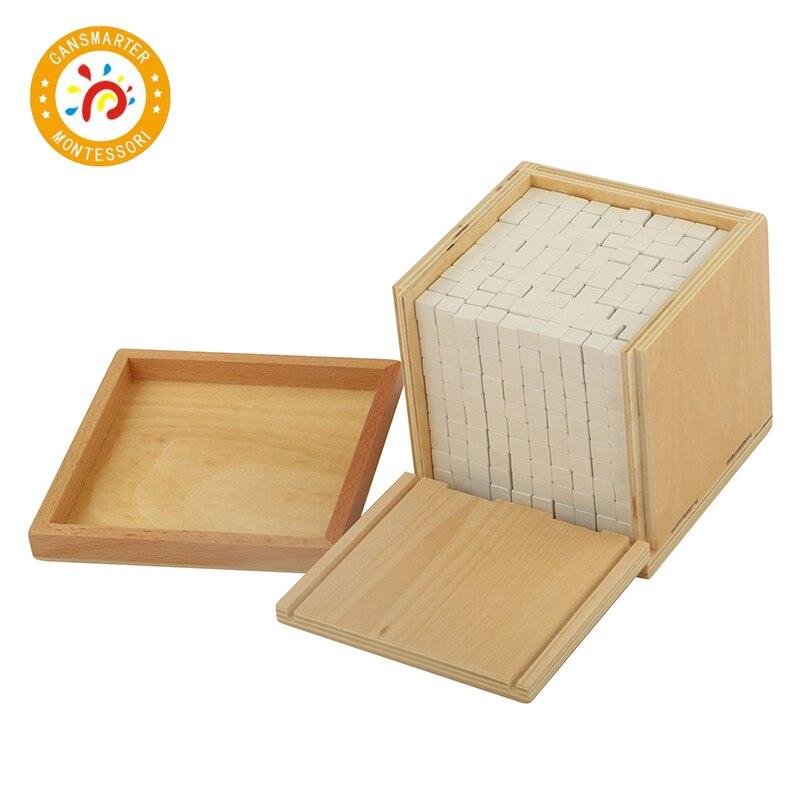 Bébé jouet Montessori Volume boîte avec 1000 Cubes éducation de la petite enfance préscolaire formation enfants jouets - 4