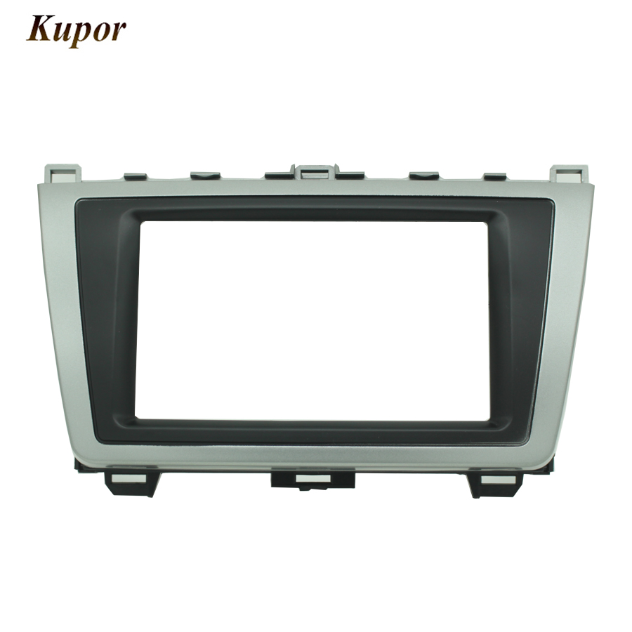 08-011 Double 2 <font><b>Din</b></font> Car Radio Frame dash kit Panel Adapter for <font><b>MAZDA</b></font> <font><b>6</b></font> Atenza 2008-2012 Car Radio DVD Installation Trim Fascia image