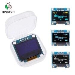 Giallo-blu doppio colore 128X64 Blu Bianco di colore OLED LCD Display A LED Module Per Arduino 0.96 pollici i2C IIC di Comunicare