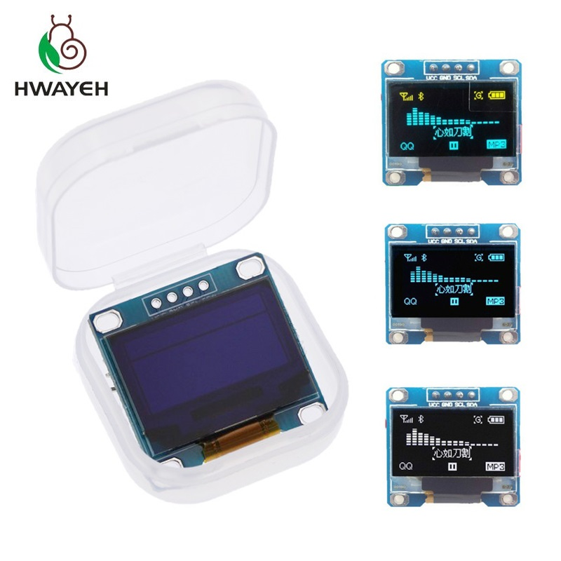 Yellow- blue double color 128X64 Blue White color OLED LCD LED Display Module For Arduino  0.96 inch I2C IIC  Communicate