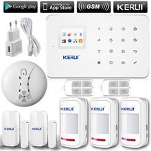 KERUI G18 English/Russian Voice GSM Autodial Home Security Alarm System+iOS App/ Android App Sensor Alarm Security System home