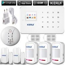 KERUI G18 Inglés/Ruso de Voz GSM de Marcado Automático Seguridad Para El Hogar Sistema de Alarma + ios/Android App Alarmes