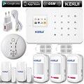 Kerui g18 inglês/russo voz gsm de discagem automática home security sistema de alarme + app ios/android app de alarme de sensor sistema de segurança em casa