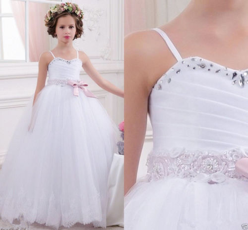 xiaoxiaoran NEW Flower Girl Dress Bridesmaid Wedding Communion Party Prom Princess Pageant new flower girl dress party prom princess pageant communion bridesmaid wedding girl party dress