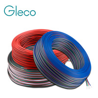 Cable de extensión de 1m/5m/10m, Cable eléctrico de 2 pines, 3 pines, 4 pines, 5 pines, 22AWG para cinta de LED de único color RGBW RGB