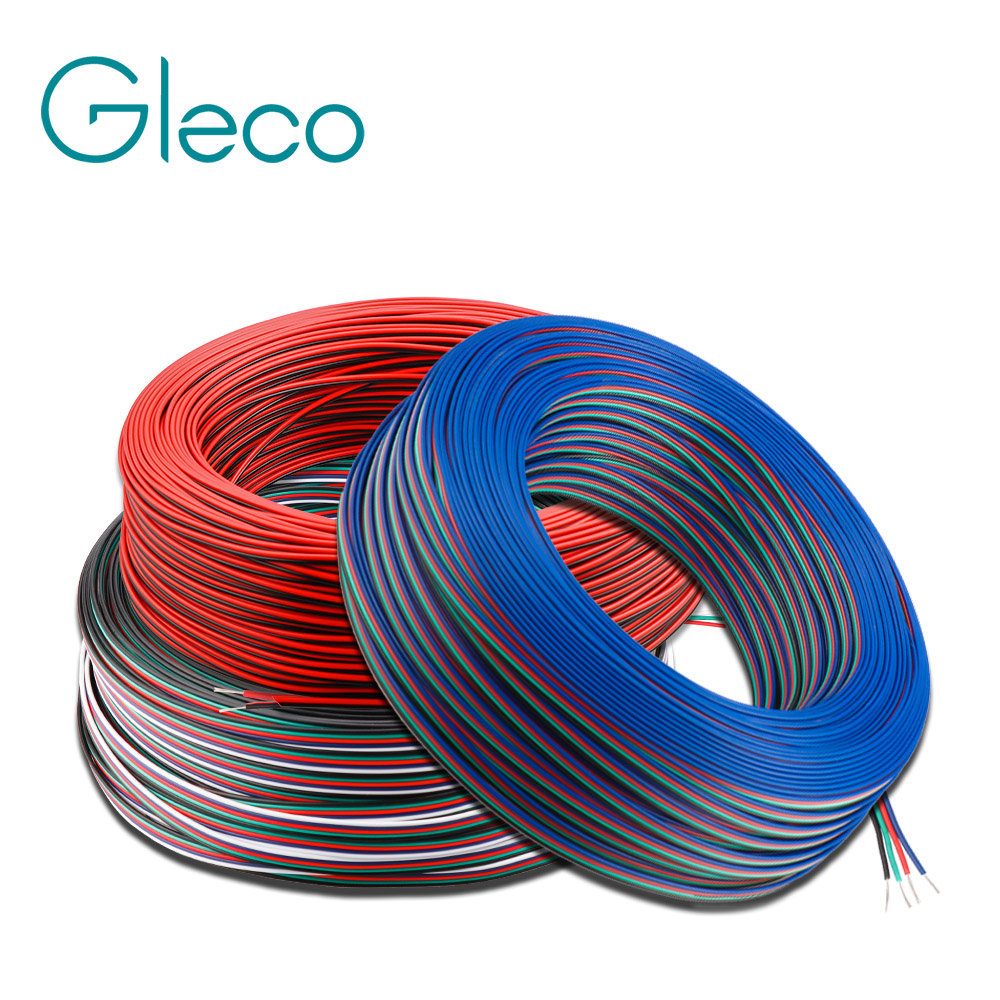1m/5m/10m Extension Wire <font><b>Cable</b></font> 2PIN 3PIN <font><b>4PIN</b></font> 5PIN LED connector Electric wire 22AWG For Single color LED strip RGBW RGB image