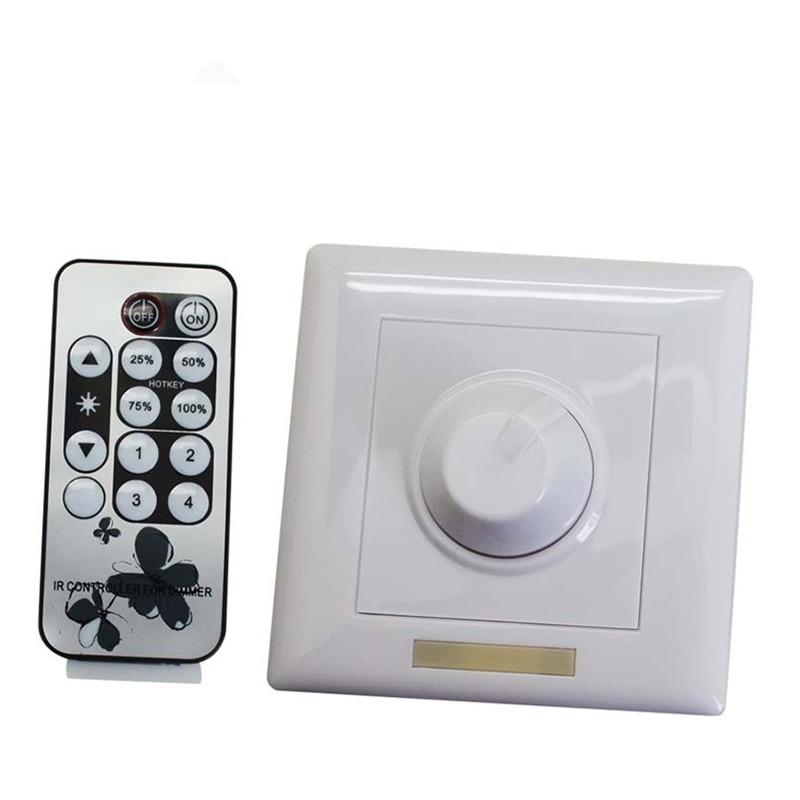 AC90-240V IR Knob PWM Triac LED Dimmer Switch For E14 E27 GU10 Dimmable LED Lights
