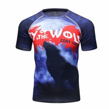New Design DC Comics Sublimation Printing T Shirt Men's Marvel Cool Superheroes Costume Cosplay Compression Tees
