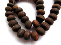 wholesale 2strands 10x14mm natural Agate gemstone rondelle abacus brown coffee black matte bead